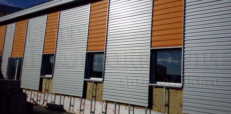 Фасад сочетание цветов С-21 серебро и евробрус тик